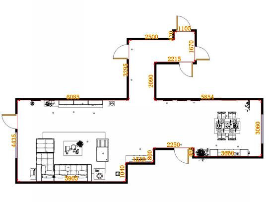 平面布置图斯玛特系列客餐厅G10804