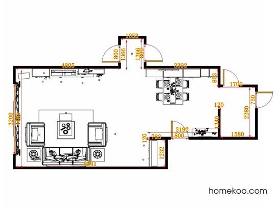 平面布置图斯玛特系列客餐厅G10819