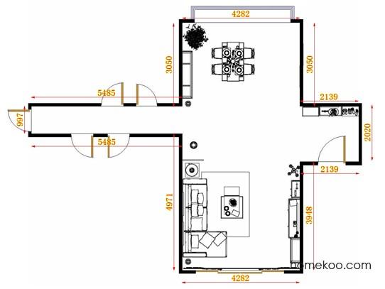 平面布置图德丽卡系列客餐厅G10821