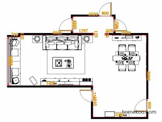 平面布置图斯玛特系列客餐厅G10822