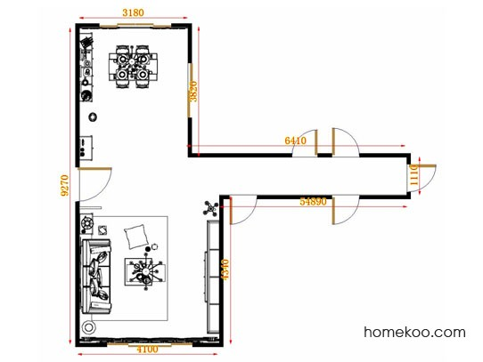 平面布置图柏俪兹系列客餐厅G10824