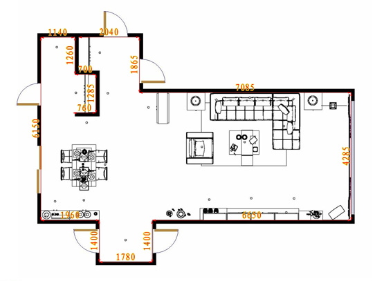 平面布置图贝斯特系列客餐厅G10827