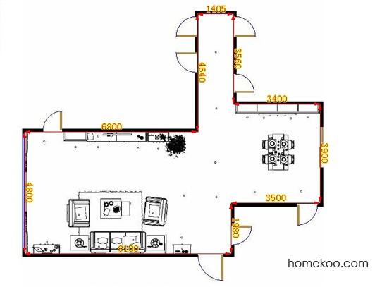 平面布置图德丽卡系列客餐厅G10838