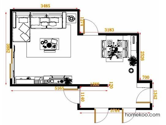 平面布置图乐维斯系列客餐厅G10852