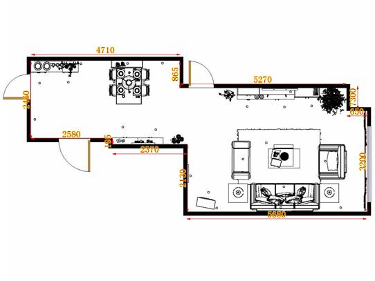 平面布置图柏俪兹系列客餐厅G10865