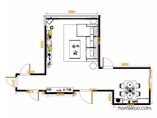 平面布置图斯玛特系列客餐厅G10871