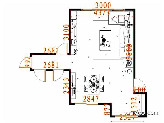 平面布置图德丽卡系列客餐厅G10892