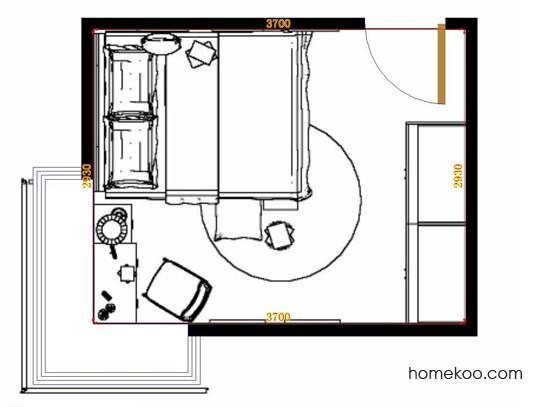 平面布置图斯玛特系列卧房A11827