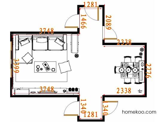 平面布置图格瑞丝系列客餐厅G10924