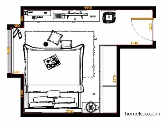 平面布置图斯玛特系列卧房A11849