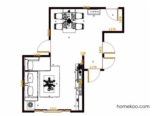 平面布置图斯玛特系列客餐厅G10945