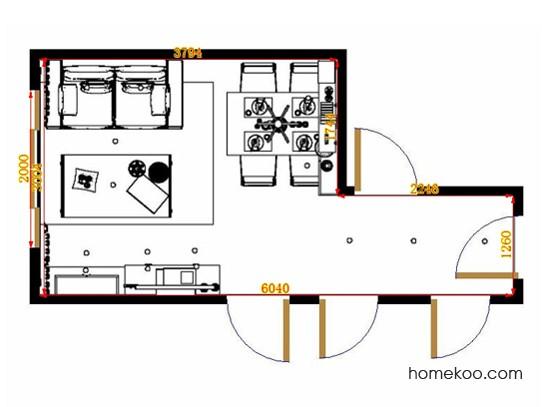 平面布置图格瑞丝系列客餐厅G10958