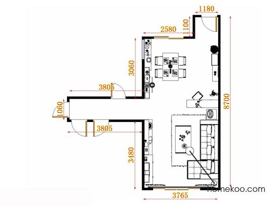 平面布置图德丽卡系列客餐厅G10960