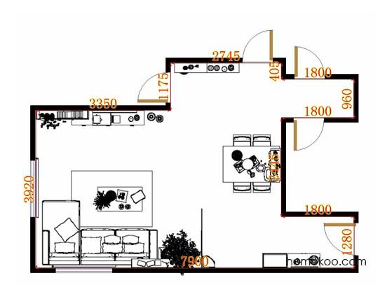 平面布置图斯玛特系列客餐厅G10964
