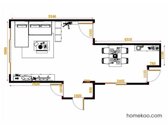 平面布置图柏俪兹系列客餐厅G11036