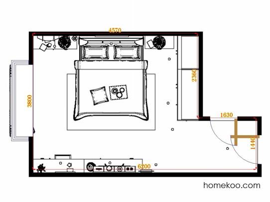 平面布置图斯玛特系列卧房A12025