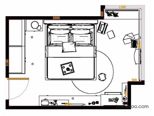 平面布置图乐维斯系列卧房A12070