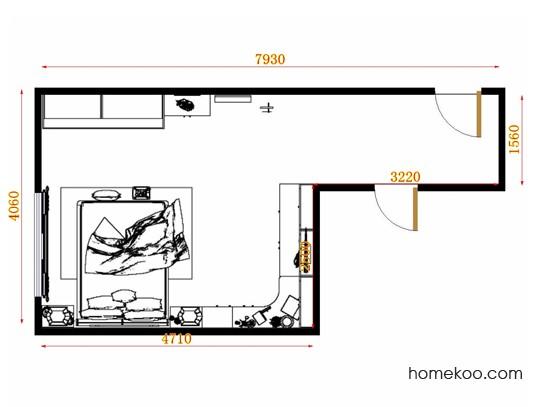 平面布置图乐维斯系列卧房A12098