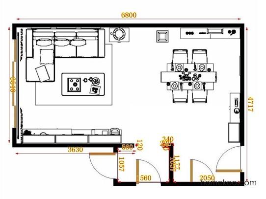 平面布置图柏俪兹系列客餐厅G11078
