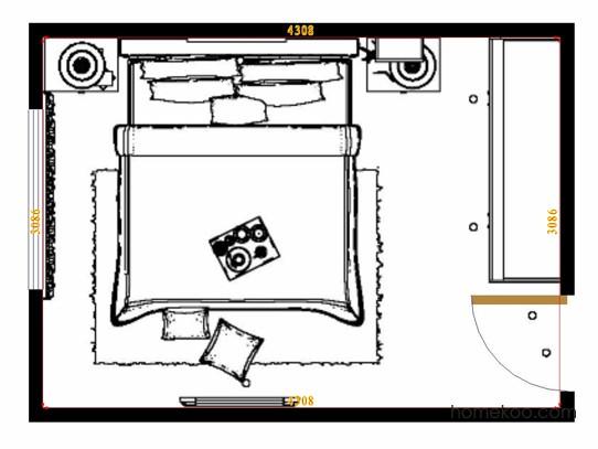平面布置图斯玛特系列卧房A14624