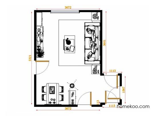 平面布置图贝斯特系列客餐厅G11108