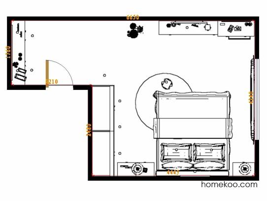 平面布置图柏俪兹系列卧房A12120