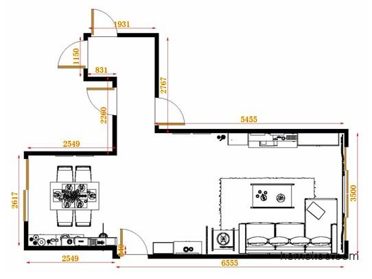 平面布置图柏俪兹系列客餐厅G11092