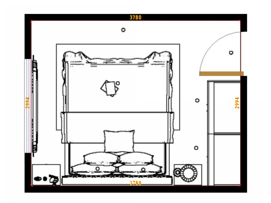 平面布置图柏俪兹系列卧房A12137