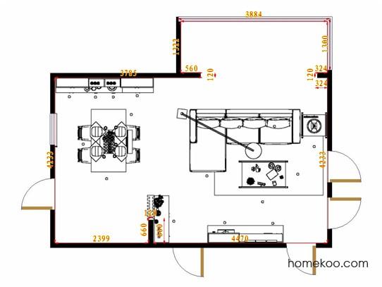 平面布置图柏俪兹系列客餐厅G11102