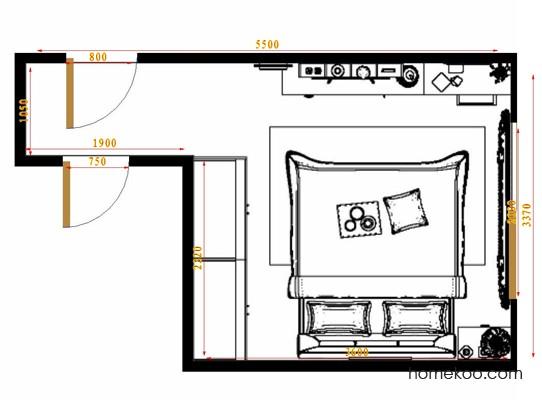 平面布置图乐维斯系列卧房A12149