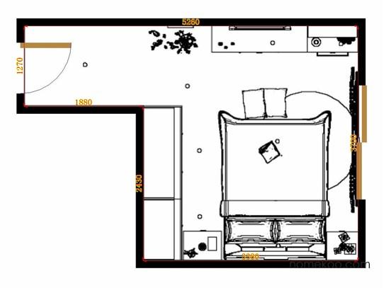 平面布置图德丽卡系列卧房A12186