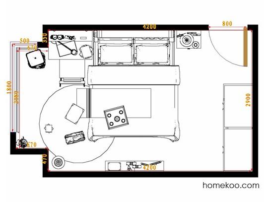 平面布置图斯玛特系列卧房A12188