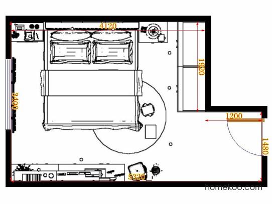 平面布置图乐维斯系列卧房A12217