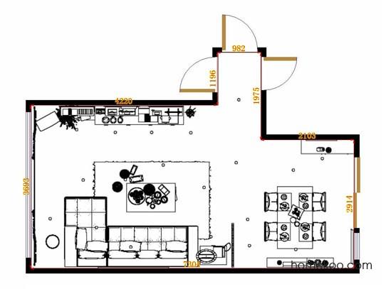 平面布置图格瑞丝系列客餐厅G11139