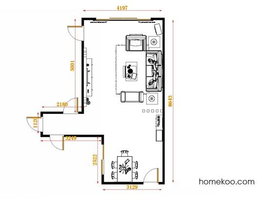 平面布置图斯玛特系列客餐厅G11148