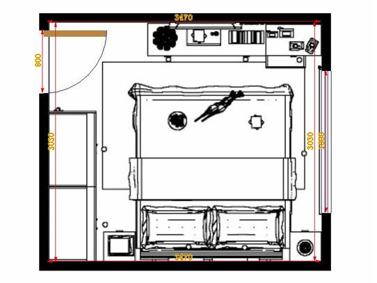 平面布置图斯玛特系列卧房A12249