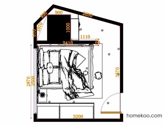 平面布置图乐维斯系列卧房A12313
