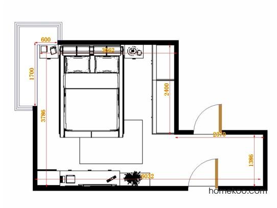 平面布置图斯玛特系列卧房A12317