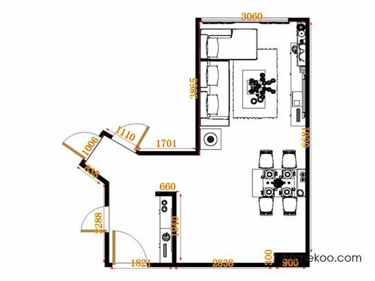平面布置图柏俪兹系列客餐厅G11226