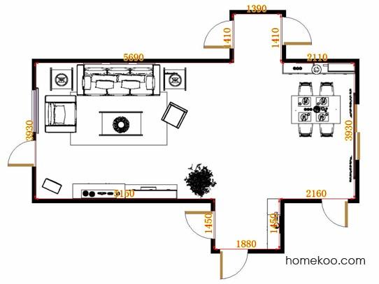 平面布置图斯玛特系列客餐厅G11228