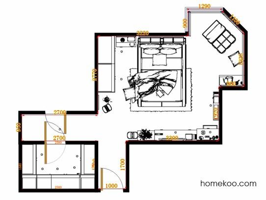 平面布置图贝斯特系列卧房A12385