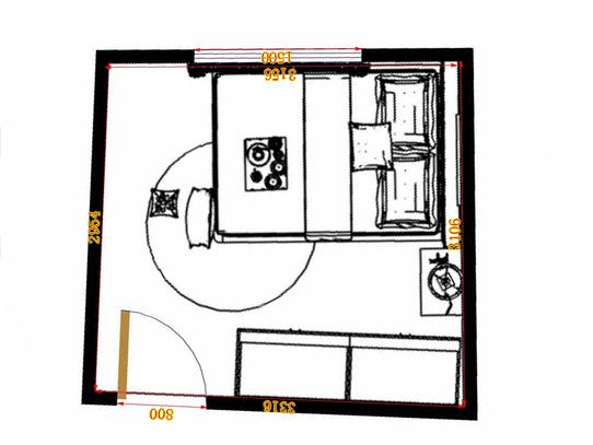 平面布置图德丽卡系列卧房A12403