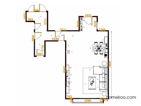 平面布置图乐维斯系列客餐厅G11276