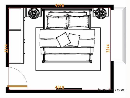 平面布置图德丽卡系列卧房A12483