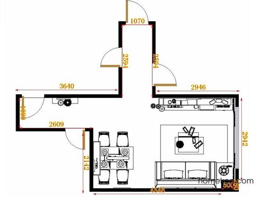 平面布置图德丽卡系列客餐厅G11292