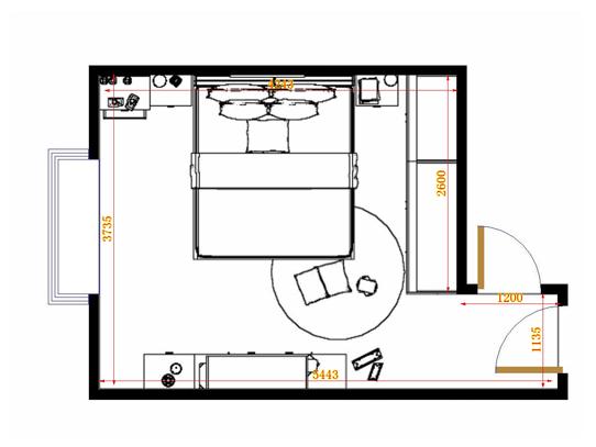 平面布置图乐维斯系列卧房A12505