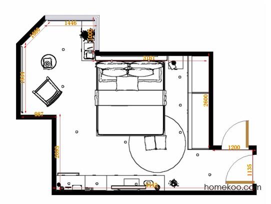 平面布置图斯玛特系列卧房A12512