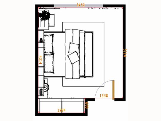 平面布置图格瑞丝系列卧房A12514