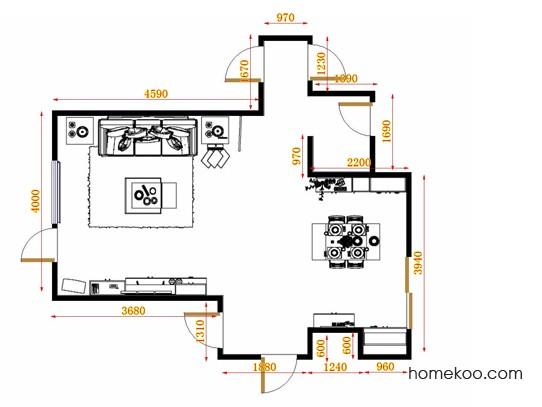 平面布置图柏俪兹系列客餐厅G11301