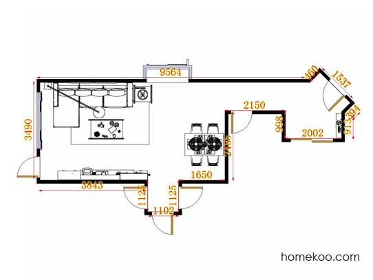 平面布置图乐维斯系列客餐厅G11303